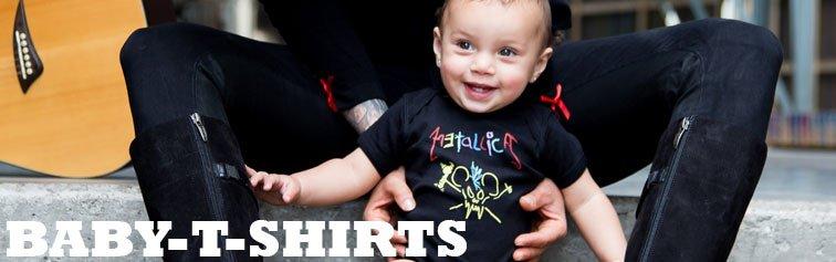 Baby-t-shirts med rocktema