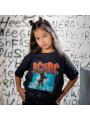 AC/DC T-shirt til børn   Blow Up Your Video fotoshoot