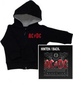 AC/DC Baby-hættetrøje med lynlås   Black Ice