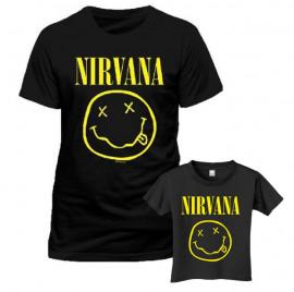Duo-rocksæt | Nirvana Far T-shirt & T-shirt til børn