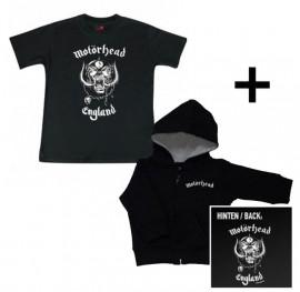 Gavesæt Motörhead Baby-hættetrøje med lynlås & Motörhead T-shirt til baby