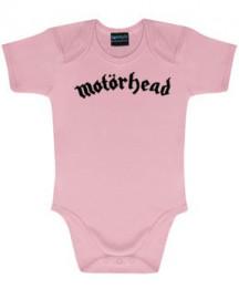 Motörhead Logo Pink-babybody | Baby Rock-bodyer