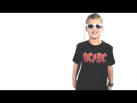 AC/DC T-shirt til børn   Logo Colour