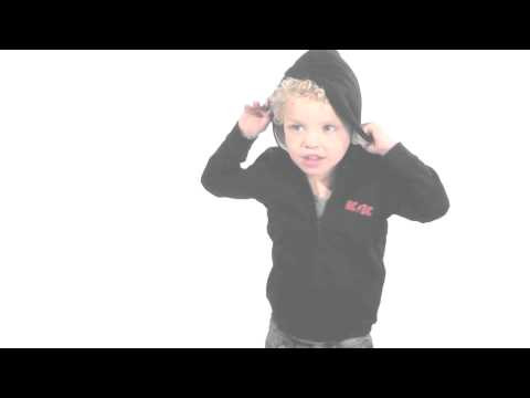 AC/DC Kids-hættetrøje med lynlås | Black Ice