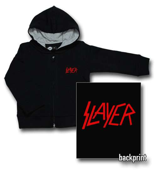 Slayer Baby-hættetrøje med lynlås   Logo Red (Print on Demand)