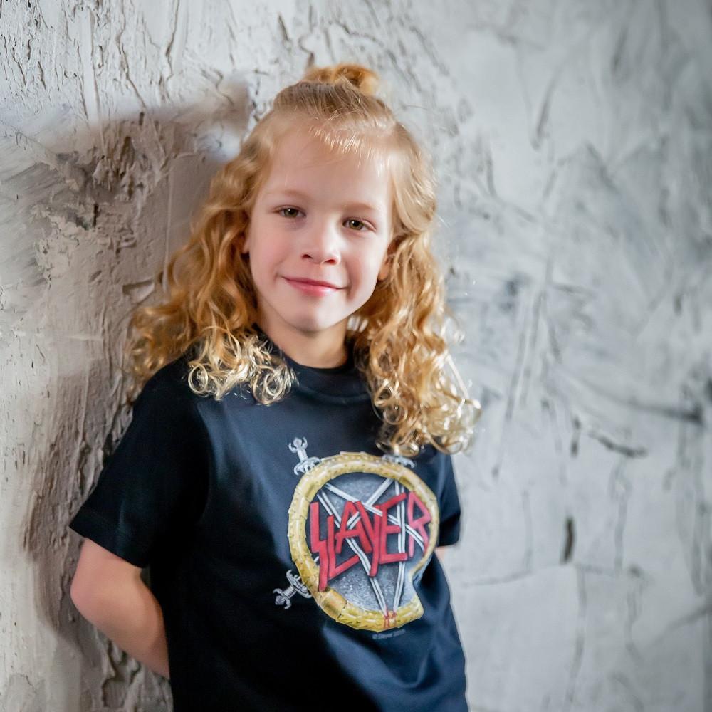 Slayer T-shirt til børn | Pentagram fotoshoot