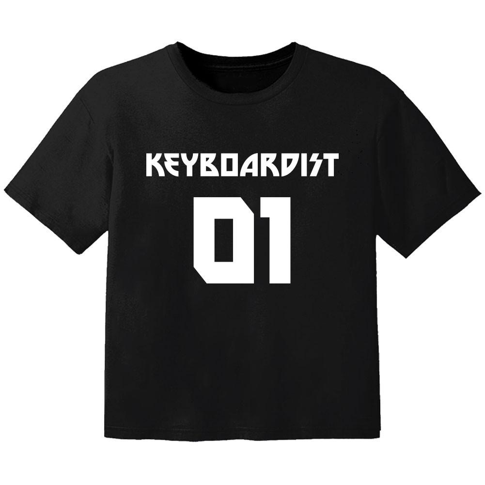 Rock T-shirt til børn keyboardist 01