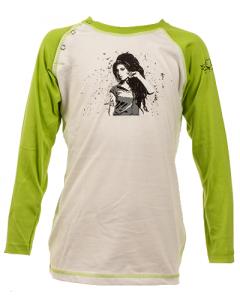 Amy Winehouse langærmet t-shirt til børn – 100 % organisk bomuld