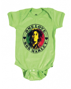 Bob Marley-body til baby – One Love Lime