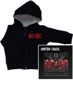 AC/DC Baby-hættetrøje med lynlås | Black Ice