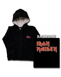 Iron Maiden Kids-hættetrøje med lynlås (Print on Demand)