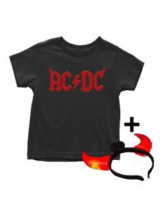 AC/DC T-shirt til børn | Devil Horns