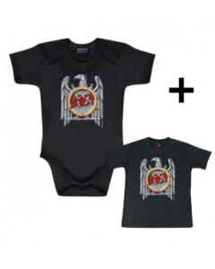 Gavesæt Slayer Silver Eagle-babybody & T-shirt til baby