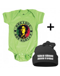 Gavesæt Bob Marley-body & Don't Worry Kasket