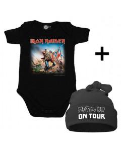 Gavesæt Iron Maiden-body & Metal Kid on Tour Kasket
