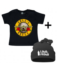 Gavesæt Guns n' Roses-T-shirt & Loud & Proud Kasket