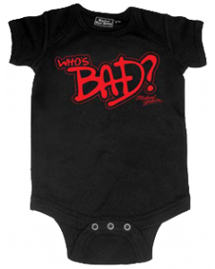 Michael Jackson baby romper Who's Bad