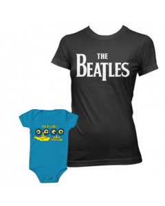 Duo-rocksæt | The Beatles Mors T-shirt & The Beatles-babybody