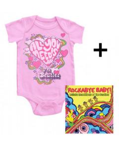 Gavesæt Beatles-babybody & Rockabyebaby-cd