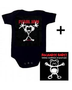 Gavesæt Pearl Jam Stickman-babybody & Pearl Jam Rockabyebaby-cd