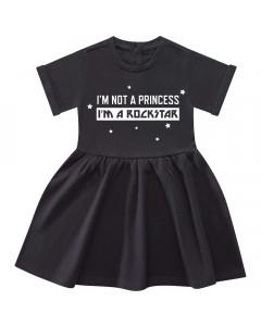 I'm not a princess I'm a rockstar kjole til baby