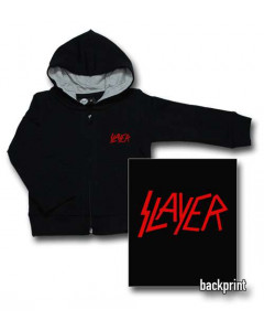 Slayer Baby-hættetrøje med lynlås | Logo Red (Print on Demand)