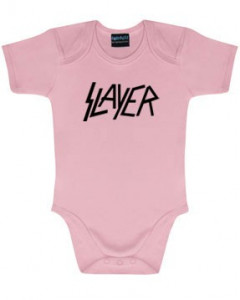 Slayer Logo Pink-babybody | Slayer-babytøj