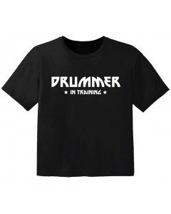 Rock T-shirt til børn drummer in training