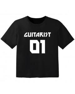 Rock T-shirt til børn guitarist 01