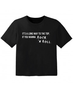 Rock T-shirt til børn its a long way to the top if you wanna Rock 'n' roll