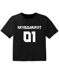 Rock T-shirt til børn keyboardist 01
