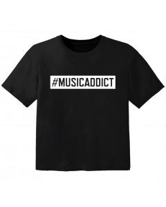 cool T-shirt til børn #musicaddict