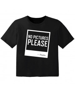 cool T-shirt til børn no pictures please