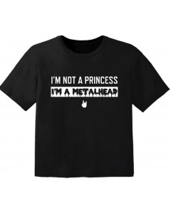 Metal T-shirt til børn I'm not a princess I'm a Metalhead