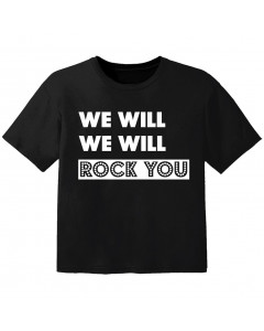 Rock T-shirt til børn we will we will Rock you