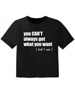 Rock T-shirt til børn you cant always get what you want but I can