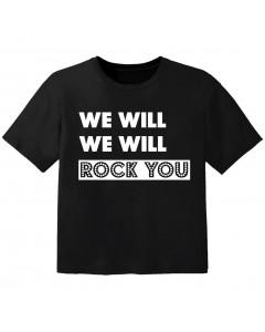 Rock T-shirt til børn we will we will Rock you
