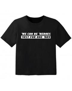 Rock T-shirt til børn we can be heroes j