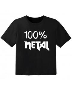 Metal T-shirt til børn 100% Metal
