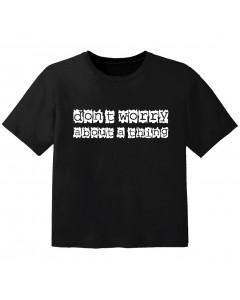 Rock T-shirt til børn don't worry about a thing