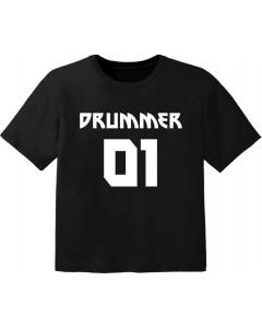 Rock T-shirt til børn drummer 01