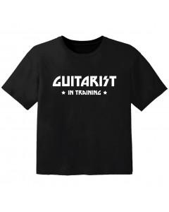 Rock T-shirt til børn guitarist in training