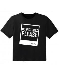 Rock T-shirt til børn no pictures please