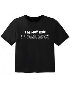 Rock T-shirt til børn im not cute im Punk Rock