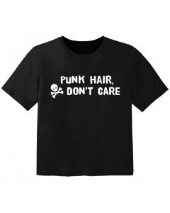 Rock T-shirt til børn Punk hair don't care