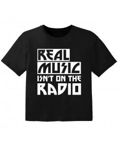 Rock T-shirt til børn real music isnt on the radio