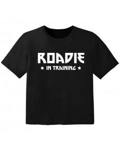 Rock T-shirt til børn roadie in training