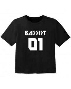 Rock T-shirt til børn bassist 01
