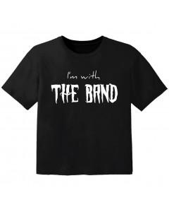 Rock T-shirt til børn I'm with the band