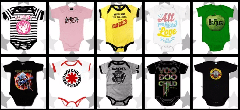 the largest punk rock baby clothes collection since 2012